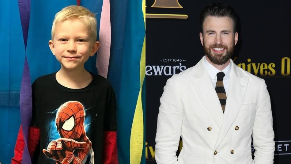 Chris Evans cumplió: Niño que salvó a su hermana de un perro recibió escudo del Capitán América