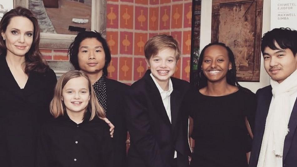 Así pasa la cuarentena Angelina Jolie con sus seis hijos: