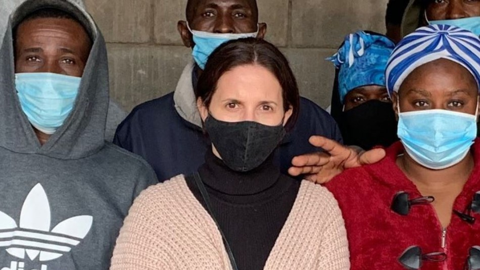 Actriz Luz Valdivieso ayuda a haitianos a regresar a su país: