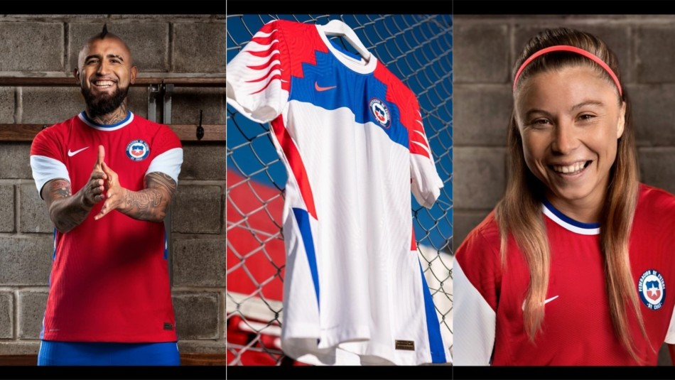 Así luce la nueva camiseta de la Selección Chilena.