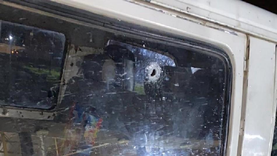 Vehículo que trasladaba a familia es baleado en la Ruta 5 Sur a la altura de Ercilla