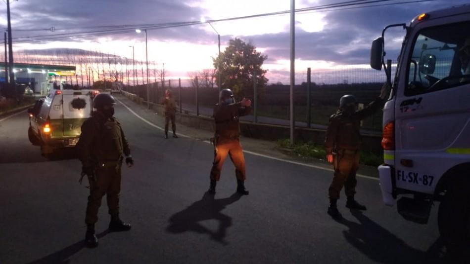 Incidentes entre camioneros y carabineros por chofer que se habría negado a frenar en Temuco