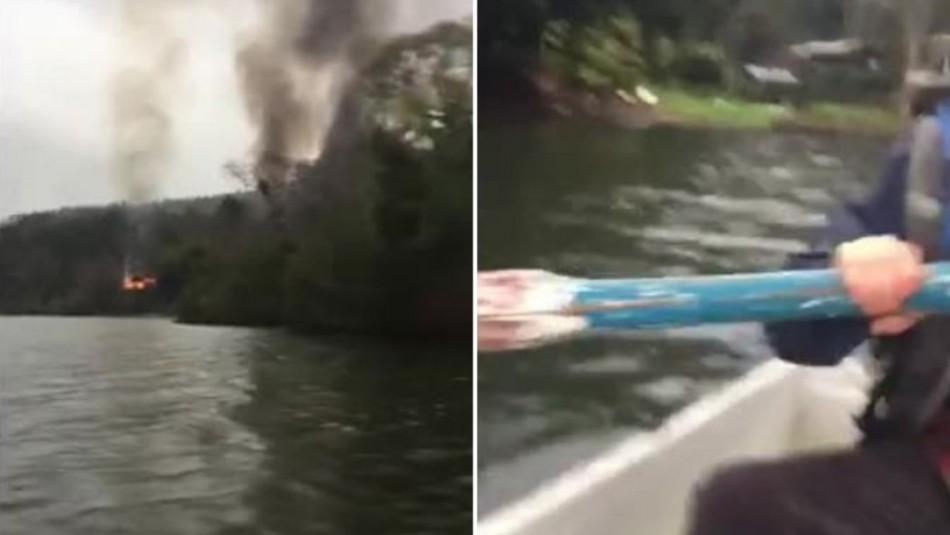 Desgarrador relato de mujer que escapó en bote tras ataque incendiario en Contulmo