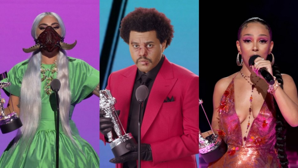 Lady Gaga fue la gran vencedora de la jornada: Revisa todos los ganadores de los VMAs 2020