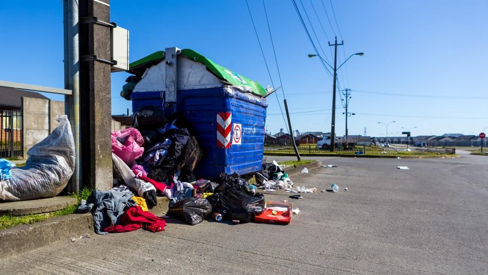 Otro efecto del paro de camioneros: Colapsa retiro de basura en Puerto Montt