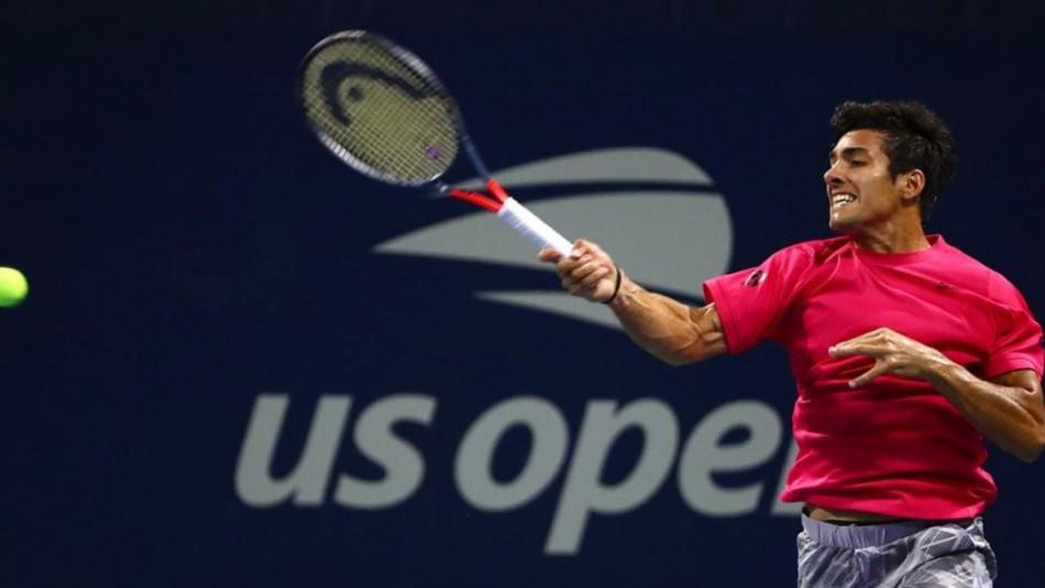 Cristian Garin disputa match por la 2° ronda del US Open.