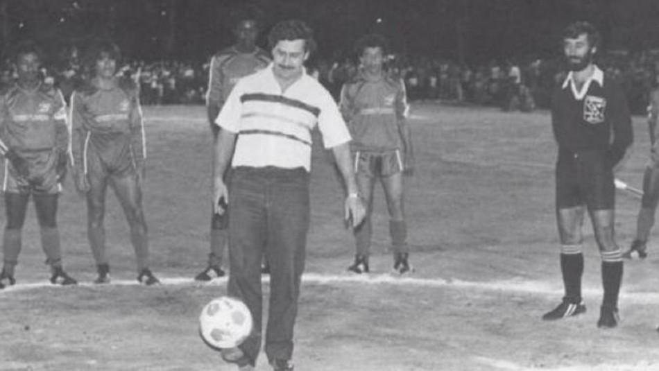 Pablo Escobar y su talento para el fútbol.