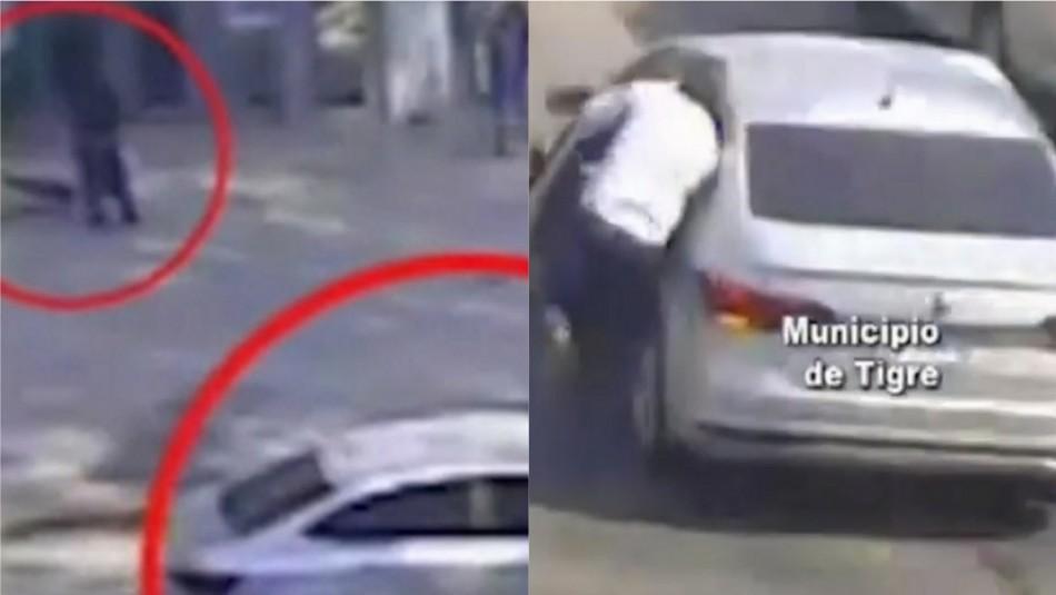 Arrastró a víctima al escapar: Delincuente chileno protagonizó violento asalto en Argentina