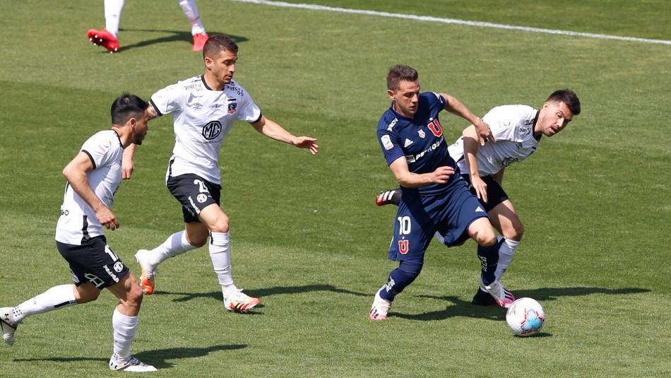 Superclásico entre Universidad de Chile y Colo Colo disputado en el Estadio Nacional.