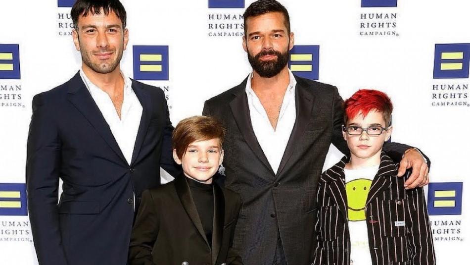 Ricky Martin presume orgulloso en Instagram todo lo que ha crecido uno de sus hijos