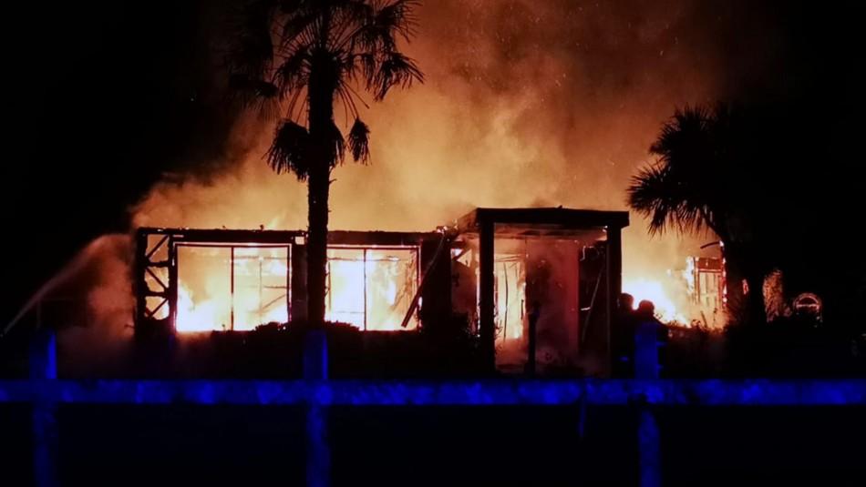 Dos inmuebles y un galpón quemados dejan nuevos ataques en la provincia de Arauco