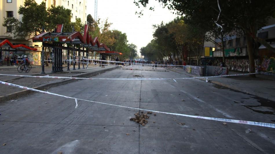 Preparan acusación contra 26 imputados por desórdenes en torno a Plaza Baquedano en marzo