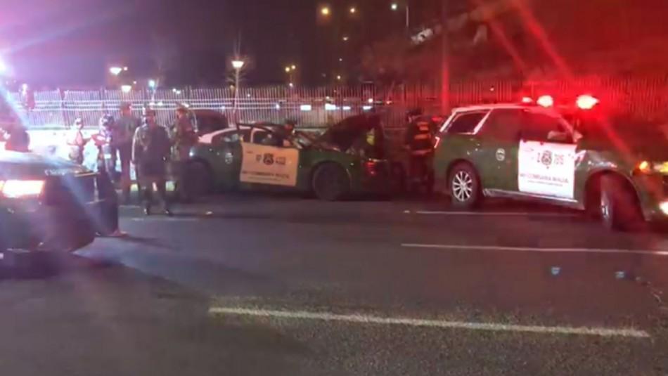 Cuatro carabineros lesionados tras choque de autos policiales durante una persecución
