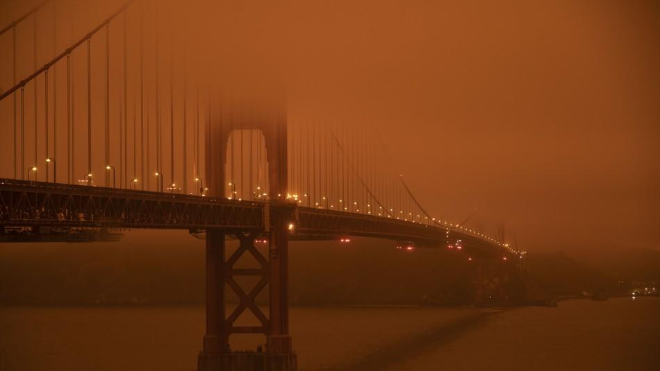 Cielo naranja: El fenómeno que se produjo en California tras los incendios forestales