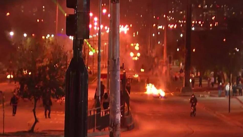 Incidentes en distintos puntos de Santiago tras conmemoración del 11 de septiembre