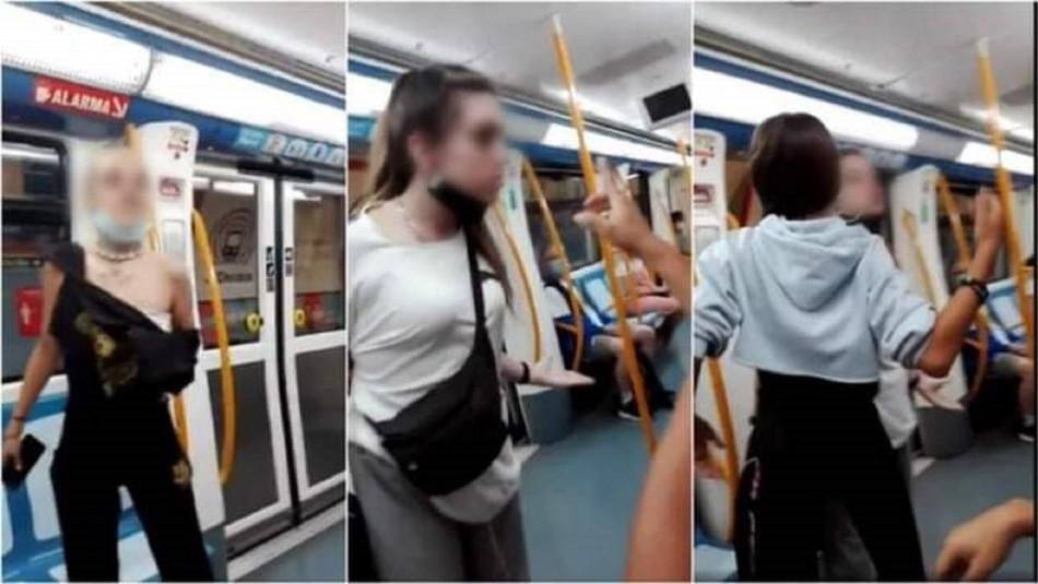 Agresión racista en Metro de Madrid.