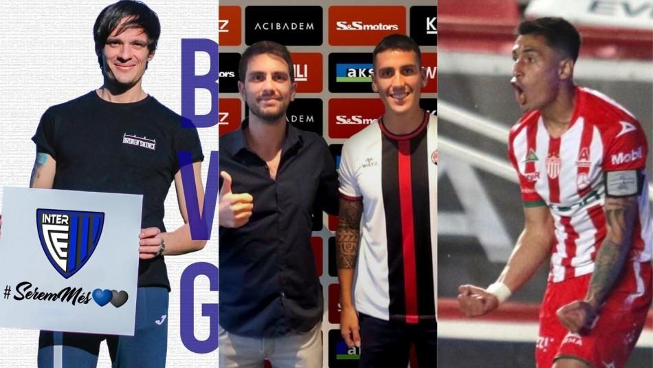 Las movidas de los futbolistas chilenos por el mundo.