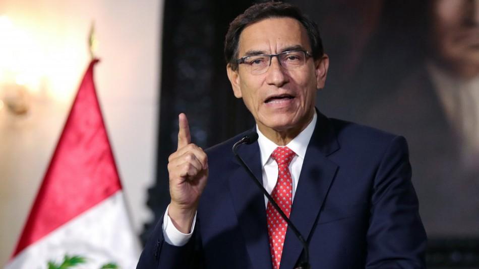 Congreso de Perú aprueba moción para destituir al Presidente Martín Vizcarra
