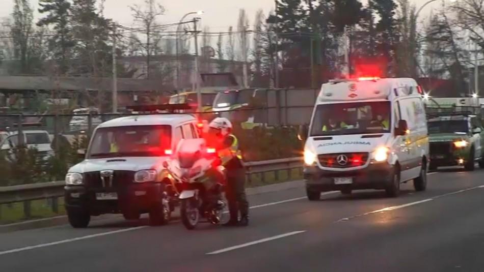 Alta congestión se registró en Ruta 5 al norte tras fatal accidente en Calera de Tango