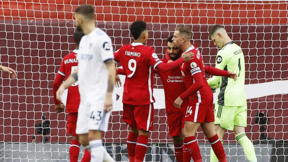 Lo perdió en la agonía: Leeds de Bielsa tropezó frente al Liverpool en su debut en la Premier