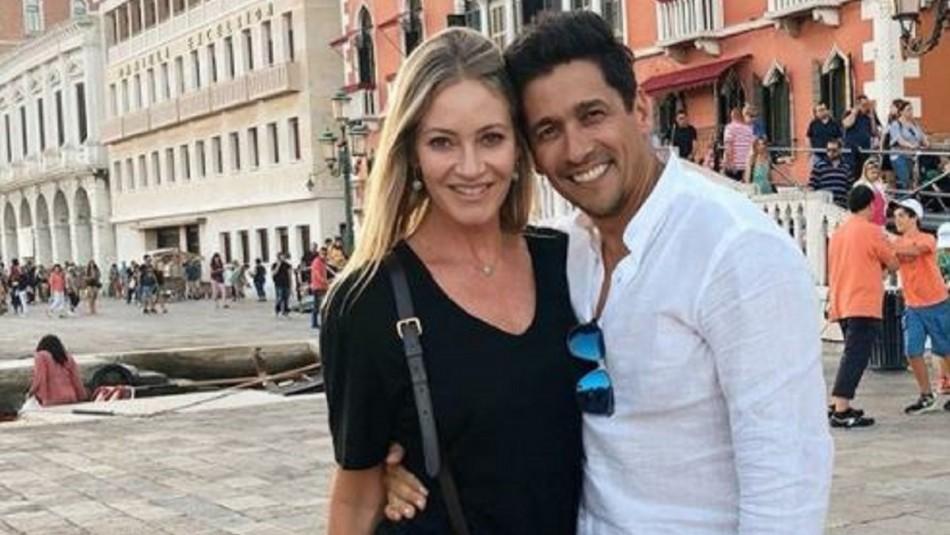 Rafael Araneda y Marcela Vacarezza presentaron a su hijo Benjamín Rafael