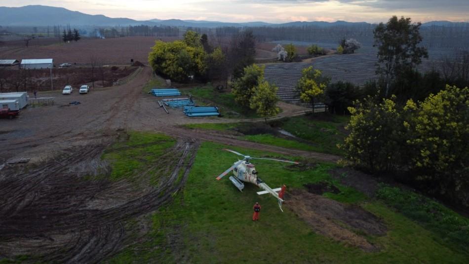 Ecocopter inicia vuelos de control de heladas para evitar pérdidas de cultivos