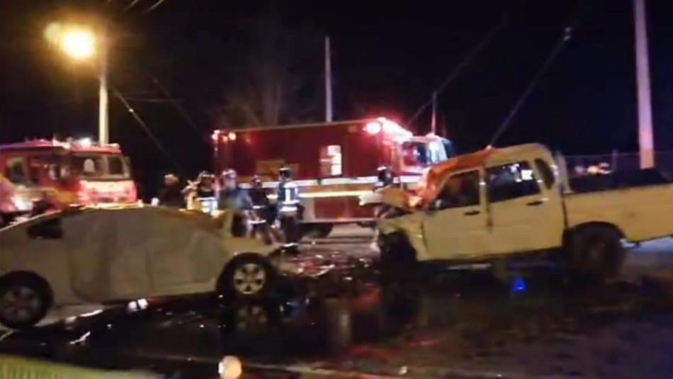 Tres fallecidos y siete heridos en accidente de tránsito en Teno