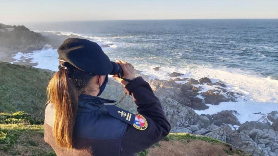 Continúa búsqueda de persona que fue arrastrada por el mar  en el sector de Punta de Tralca