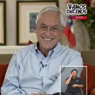 Piñera envía mensaje a campaña Vamos Chilenos: Se debe