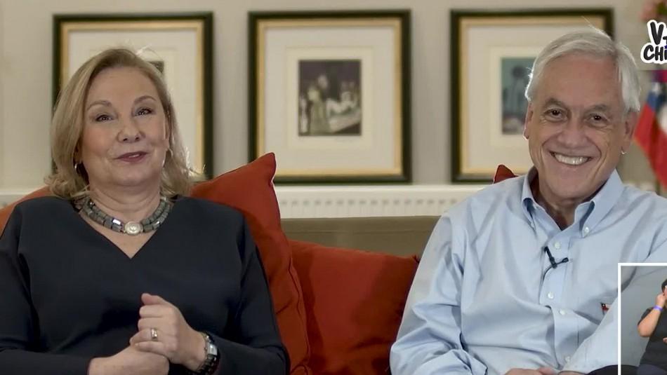 Presidente Piñera y Cecilia Morel
