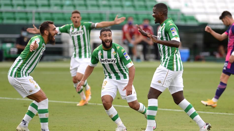 Betis de Pellegrini y Bravo es puntero en la liga española tras vencer al Valladolid de Orellana