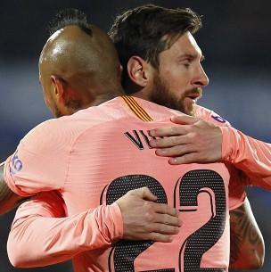 Messi se despide de Vidal tras fichar en el Inter: