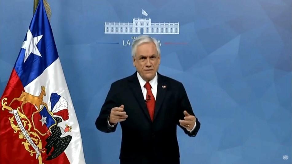Piñera pide ante la ONU fortalecer valores como el respeto por los Derechos Humanos
