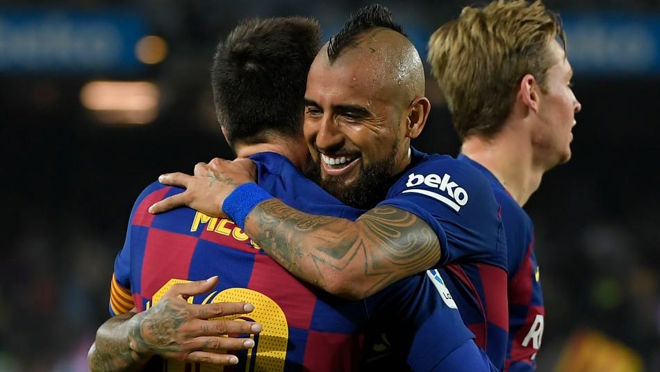 Arturo Vidal se despide del Barcelona.
