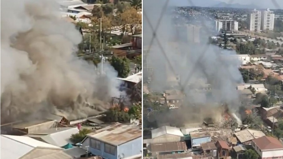 Incendio afecta a hogar de ancianos en comuna de La Florida: Presenta peligro de propagación