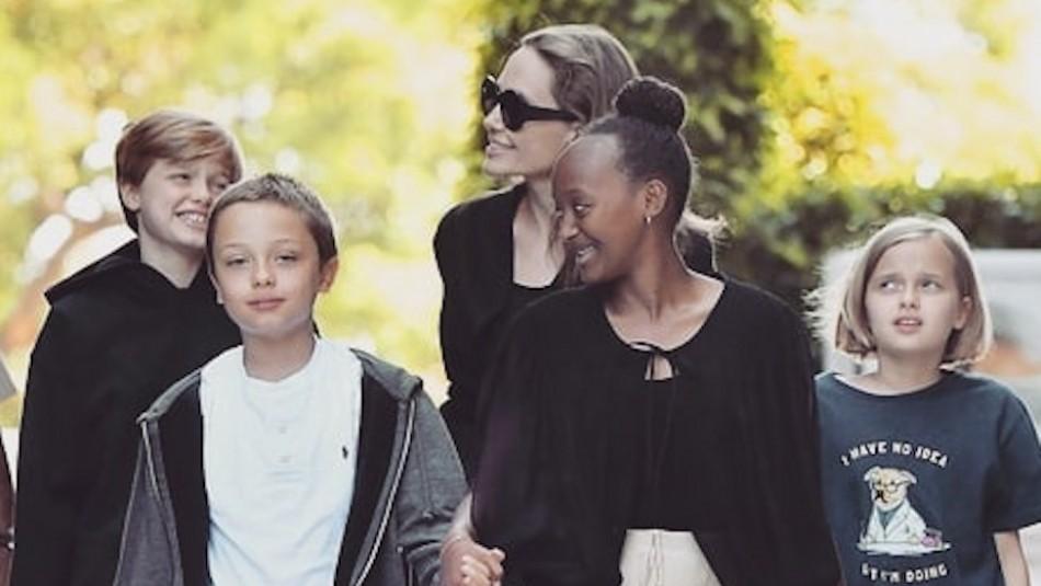 Así de grandes están las hijas de Angelina Jolie y Brad Pitt: Shiloh es la más alta
