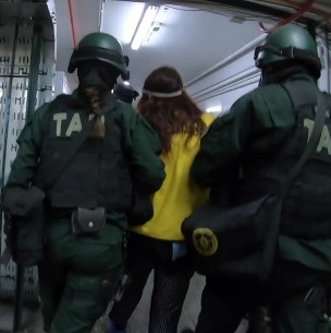 Así fue la llegada de la madre de Ámbar Cornejo a la cárcel de San Miguel