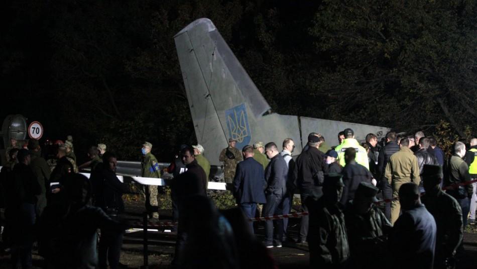 Accidente de avión militar deja al menos 22 muertos en Ucrania