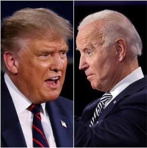 Trump y Biden intercambian insultos en el primer debate presidencial en EE.UU