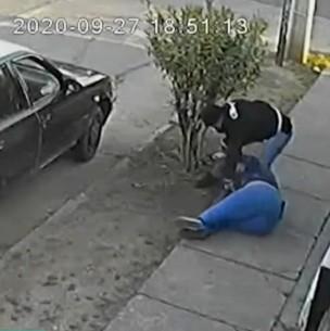 Víctima de violento