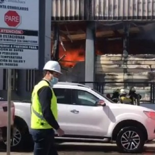 Gran incendio afecta a pesquera Camanchaca en Talcahuano