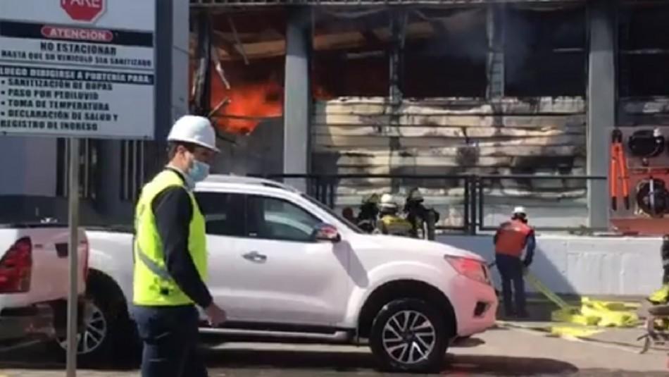 Gran incendio afecta a la empresa pesquera Camanchaca en Talcahuano