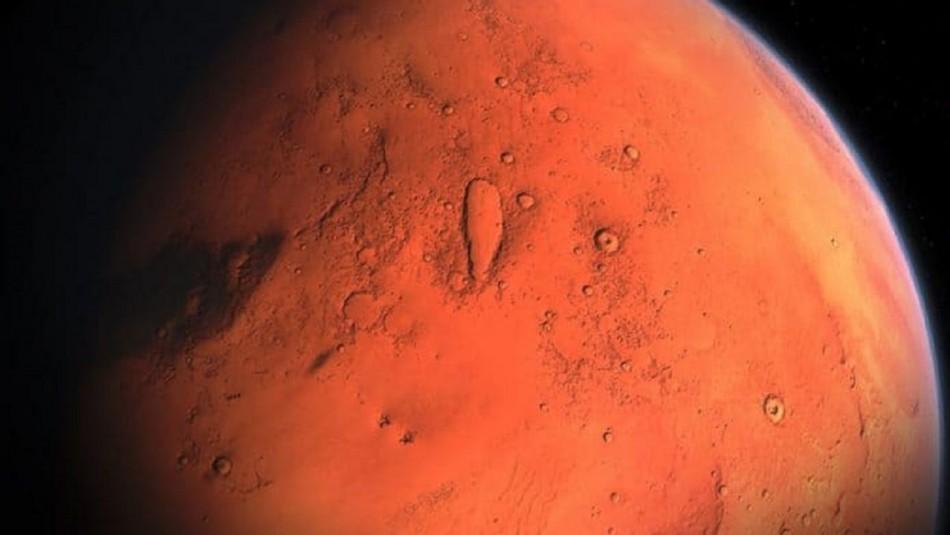 Descubren lagos en el planeta Marte.