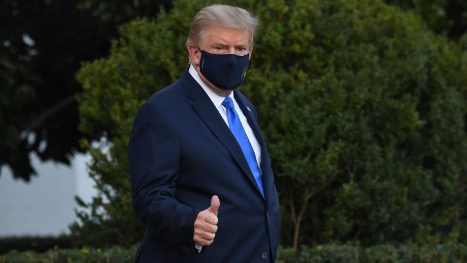 Video: Trasladan a Trump a hospital tras dar positivo a coronavirus