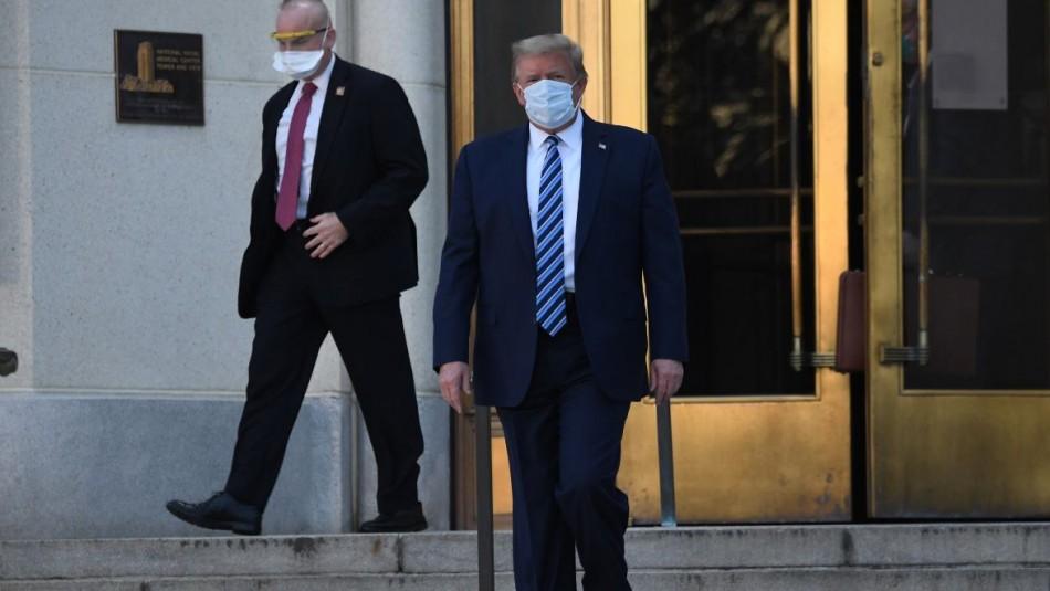 Donald Trump es dado de alta tras ser hospitalizado a causa del coronavirus