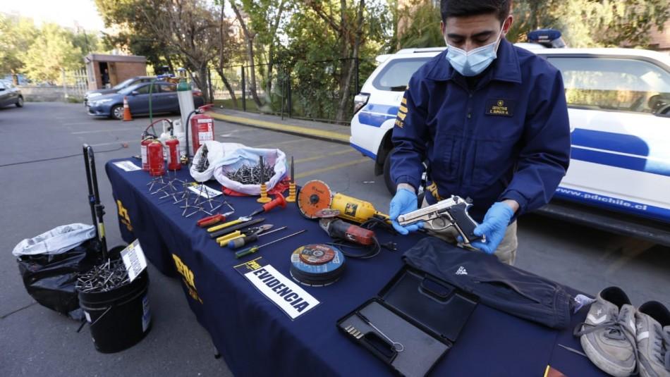 Operación Jauría: Cae peligrosa banda delictual que utilizaba rehenes para cometer asaltos