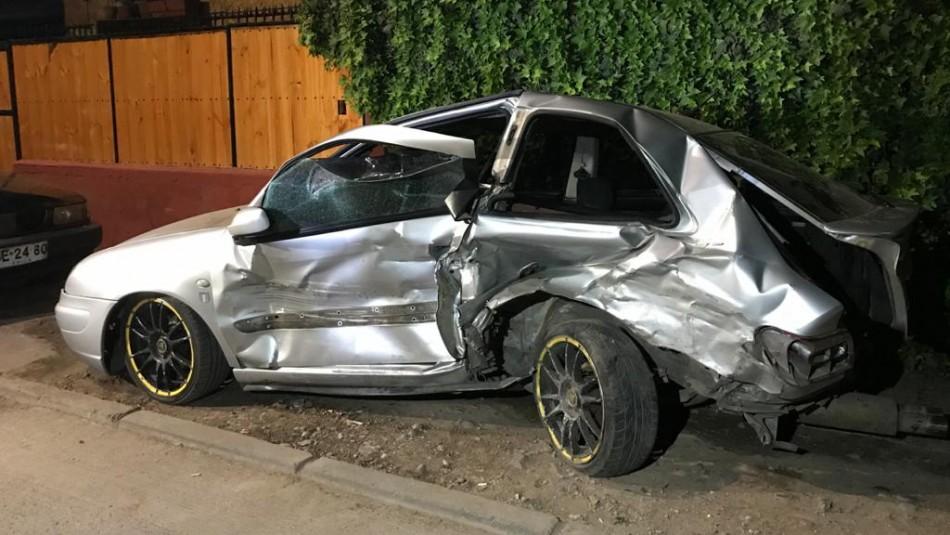 Asaltante protagoniza accidente de tránsito que afectó a dos adultos y un niño
