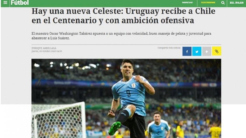 Uruguay recibe a Chile en Montevideo.