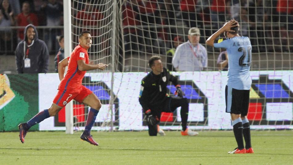 La noche soñada de Alexis ante Uruguay.