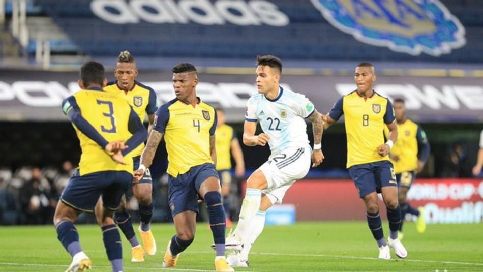 Argentina choca ante Ecuador en Eliminatorias.